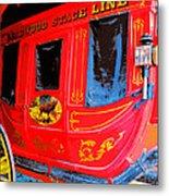 Deadwood Stagecoach Metal Print