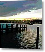 Deale Maryland Harbour Seascape Metal Print