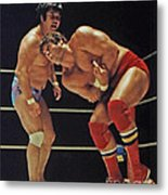Dean Ho Vs Don Muraco In Old School Wrestling From The Cow Palace Metal Print