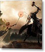 Death Knight And Fairy Queen Metal Print by Daniel Eskridge