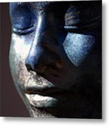 Death Mask Metal Print