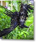 Death Raven Hanging In The Rope Metal Print