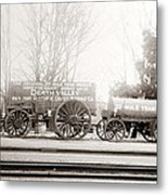 Death Valley Borax Mule Team Metal Print