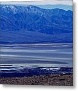 Death Valley National Park Overview Of Badwater Basin Metal Print