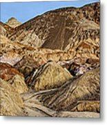 Death Valley Painted Mountains Metal Print