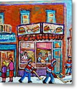 Decarie Hot Dog Restaurant Ville St. Laurent Montreal  Metal Print