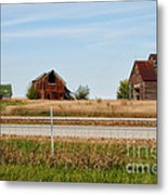 Decaying Farm Central Il Metal Print