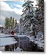 December Afternoon At The Red Boathouse Metal Print