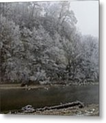 December Morning On The River Metal Print