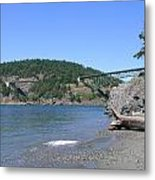 Deception Pass Bridge II Metal Print