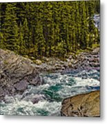 Dechutes River Rapids Bend Oregon Metal Print