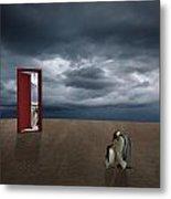 Decision Of Penguin Metal Print