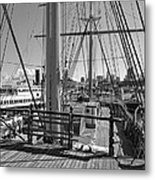Deck Of Balclutha 3 Masted Schooner - San Francisco Metal Print by Daniel Hagerman
