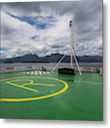 Deck On The Navimag Ferry Metal Print