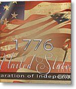 Declaration Of Independence  Metal Print by Beverly Guilliams