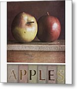 Deco Apples Metal Print