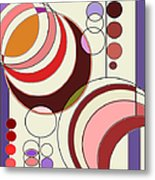 Deco Circles Metal Print