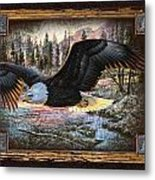 Deco Eagle Metal Print