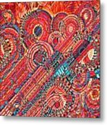 Deco Flower Swirls Metal Print