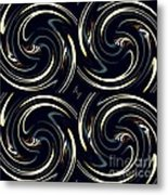 Deco Swirls Metal Print