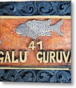 Decor Element With Fish. Maldives Metal Print
