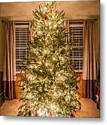 Decorated Christmas Tree Metal Print