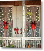 Decorated Christmas Windows Key West - Hdr Style Metal Print