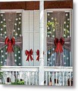 Decorated Christmas Windows Key West  Metal Print