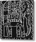 Decorated Elephant Metal Print