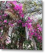 Decorated Palm Metal Print