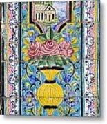 Decorated Tile Work At The Golestan Palace In Tehran Iran Metal Print