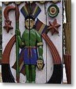 Decoration On Wooden Door In Lansdowne Metal Print