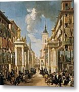 Decorations Of Plater�as Street Metal Print