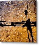Decorative Abstract Giraffe Print Metal Print
