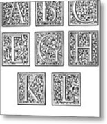 Decorative Initials, C1600 Metal Print