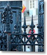 Decorative Iron Fence In New Orleans Metal Print