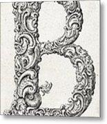 Decorative Letter Type B 1650 Metal Print