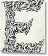Decorative Letter Type E 1650 Metal Print