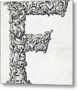 Decorative Letter Type F 1650 Metal Print