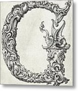 Decorative Letter Type G 1650 Metal Print
