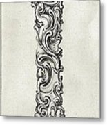 Decorative Letter Type I 1650 Metal Print