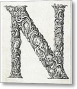Decorative Letter Type N 1650 Metal Print