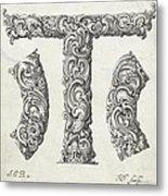 Decorative Letter Type T 1650 Metal Print