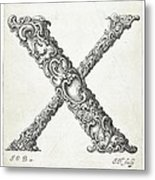 Decorative Letter Type X 1650 Metal Print