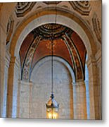 Decorative Light At The New York Public Library Metal Print