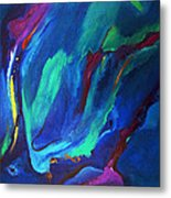 Deep Blue Thoughts Metal Print