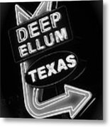 Deep Ellum Black And White Metal Print