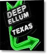 Deep Ellum In Green Metal Print