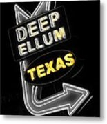Deep Ellum In Yellow Metal Print