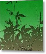 Deep Green Haiku Metal Print